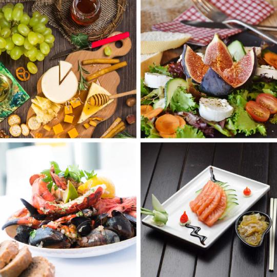 Sushi, schaaldieren, vegetarische salade en pastagerechten zijn heerlijk bij wijn van de Rabigato druif