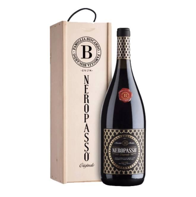 MAGNUM Neropasso Rosso Veneto | In mooi houten kistje | Een robijnrode topwijn uit Noord-Italië met een volle smaak en fluweelzachte tannines | Unieke blend van 3 druivensoorten: Corvinone, Corvina en Cabernet Sauvignon
