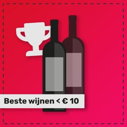 De beste rode rode wijnen van de Castelão druif onder de 10 euro