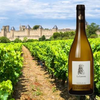 Domaine de l'Engarran, La Lionne Blanc   Frankrijk   2018   Fris, fruitig en droog  >                </picture>          <p class=