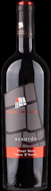 Assurdo rosso Baglio Gibellina | Italië | gemaakt van de druif: Nero d'Avola, Pinot Nero