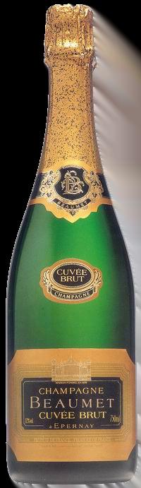 Champagne Beaumet, Brut | Frankrijk | gemaakt van de druif: Chardonnay, Pinot Meunier, Pinot Noir