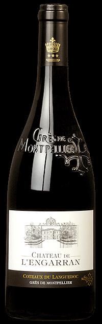 Château de l'Engarran rouge   Frankrijk   gemaakt van de druif: Carignan, Grenache Noir, Mourvèdre, Syrah