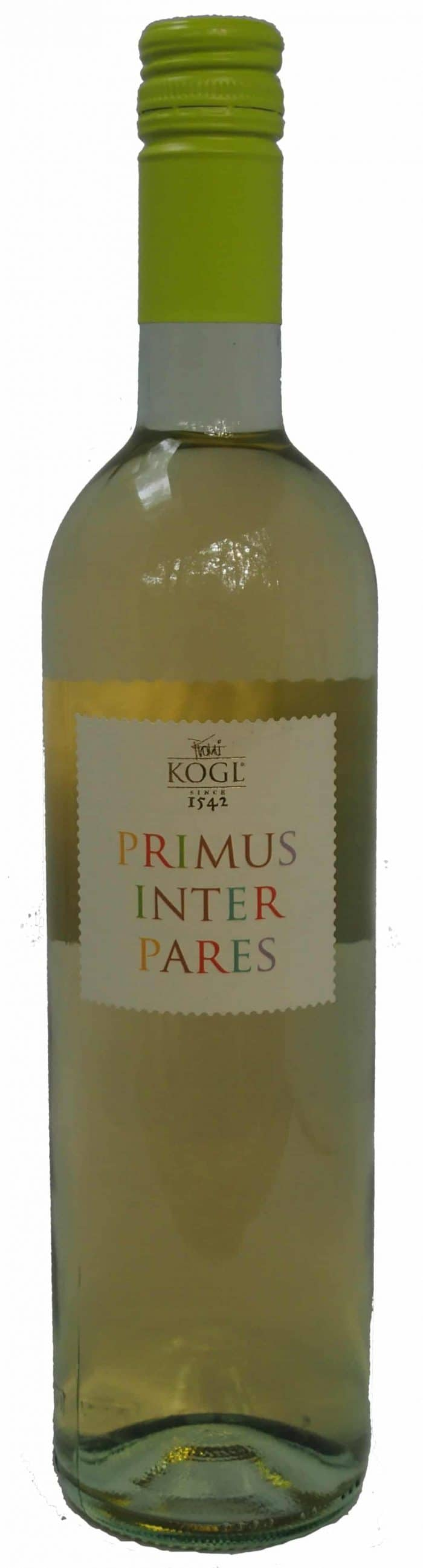 Kogl Primus Inter Pares | Slovenië | gemaakt van de druif: Chardonnay, Kerner, Muscat Ottonel