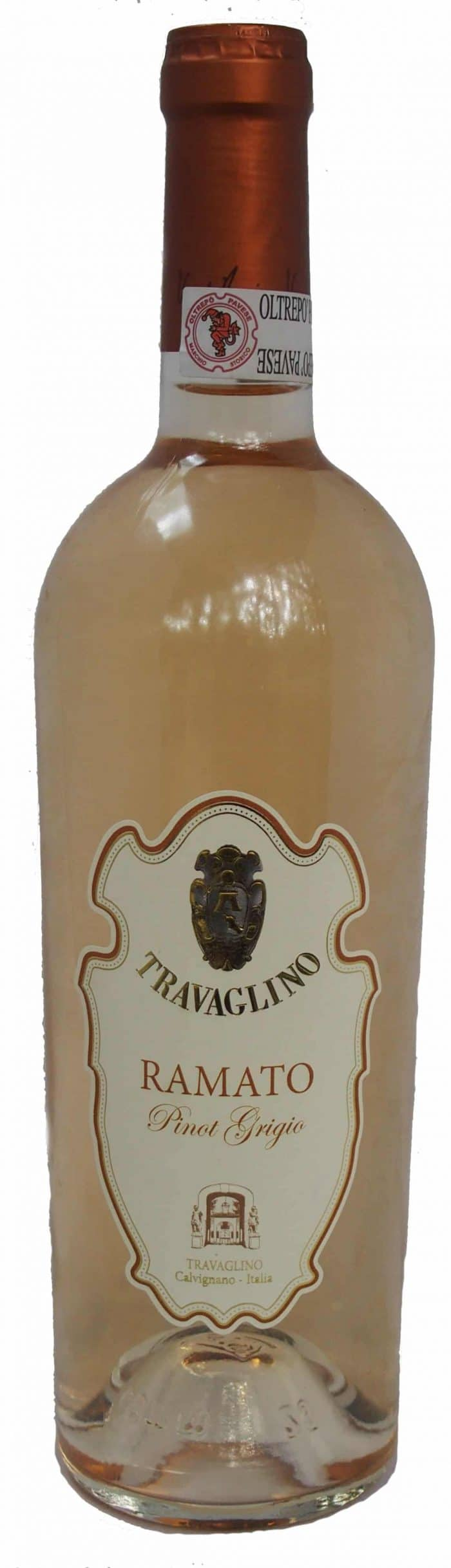 Travaglino Ramato   Italië   gemaakt van de druif: Pinot Grigio