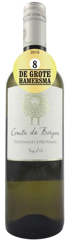 Comte de Bergon Vin de Pays d' Oc Blanc | Frankrijk | gemaakt van de druif: Chardonnay, Muscat d'Alexandrie, Sauvignon Blanc, Vermentino, Viognier