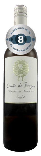 Comte de Bergon Blanc | Frankrijk | gemaakt van de druif: Chardonnay, muscat, Sauvignon Blanc, Vermentino, Viognier