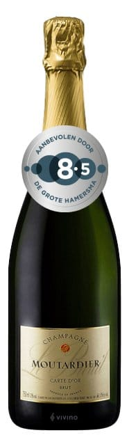 Champagne Moutardier – Carte d'Or Brut 37,5cl | Frankrijk | gemaakt van de druif: Chardonnay, Pinot Meunier