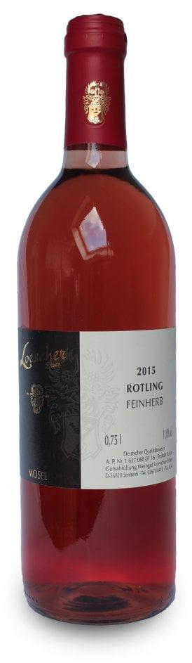 Loescher Rotling Halbtrocken | Duitsland | gemaakt van de druif: Dornfelder, Müller-Thurgau