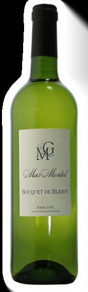 Mas Montel Bouquet de Blancs | Frankrijk | gemaakt van de druif: Chardonnay, Grenache Blanc, muscat, Vermentino, Viognier