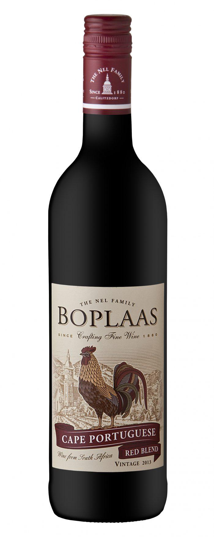 Boplaas Cape Portuguese Red   Zuid-Afrika   gemaakt van de druif: Shiraz, Tinta Barroca, Touriga Franca
