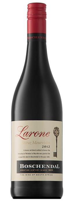 Boschendal Larone Shiraz Mourvèdre | Zuid-Afrika | gemaakt van de druif: Mourvèdre, Shiraz