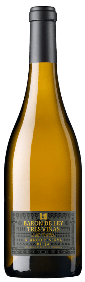 Barón de Ley – Blanco Reserva 3 Viñas | Spanje | gemaakt van de druif: garnacha blanca, Malvasia, Viura