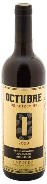 Octubre Setzevins Empordà | Spanje | gemaakt van de druif: Carignan, Garnacha, Syrah