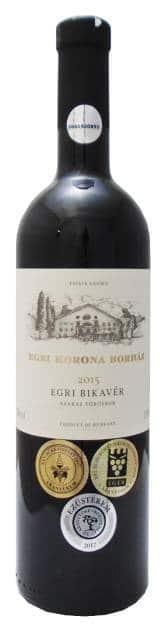 Egri Korona Bikaver 'Stierenbloed' | Hongarije | gemaakt van de druif: blauburger, Cabernet Sauvignon, Kékfrankos, Merlot