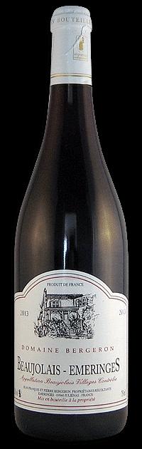 Domaine Bergeron Beaujolais Emeringes   Frankrijk   gemaakt van de druif: Gamay