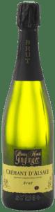 Pierre Henri Ginglinger – Crémant d'Alsace Brut (1/2) | Frankrijk | gemaakt van de druif: Auxerrois, Pinot Noir, Riesling