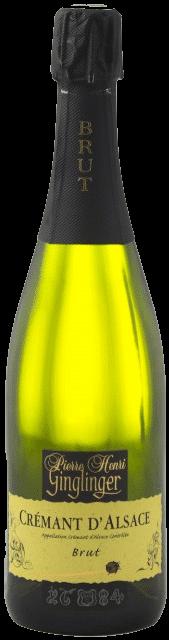 Pierre Henri Ginglinger – Crémant d'Alsace Brut (1/2)   Frankrijk   gemaakt van de druif: Auxerrois, Pinot Noir, Riesling