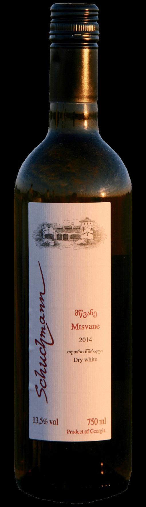 Schuchmann Mtsvane   Georgië   gemaakt van de druif: mtsvane