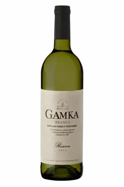 Boplaas GAMKA Branca | Zuid-Afrika | gemaakt van de druif: Chardonnay, Chenin Blanc, Grenache Blanc, Roussanne, Verdelho, Viognier