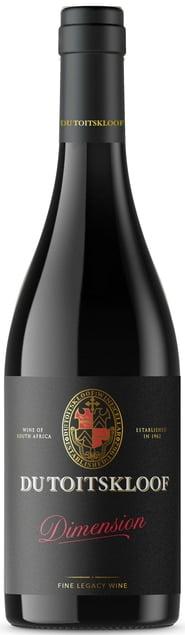 Du Toitskloof Dimension   Zuid-Afrika   gemaakt van de druif: Cabernet Sauvignon, Pinot Noir, Shiraz