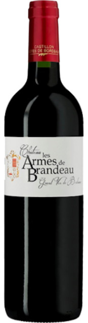 Chateau les Armes de Brandeau | Frankrijk | gemaakt van de druif: Cabernet Sauvignon, Merlot