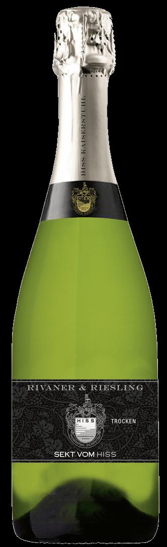 Weingut Hiss – Rivaner Riesling Sekt | Duitsland | gemaakt van de druif: Müller-Thurgau, Riesling