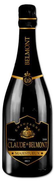 Claude & Belmont Majestueux Champagne Millésimé, Vintage 2008 | Frankrijk | gemaakt van de druif: Chardonnay