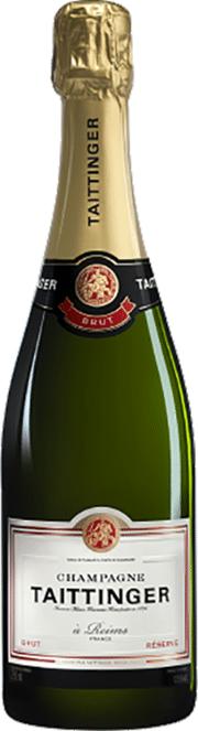 Taittinger Brut Réserve Champagne | Frankrijk | gemaakt van de druif: Chardonnay, Pinot Meunier, Pinot Noir