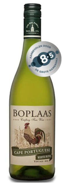 Boplaas Cape Portuguese White | Zuid-Afrika | gemaakt van de druif: Chardonnay, Sauvignon Blanc, Verdelho