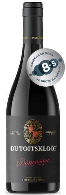 Du Toitskloof Dimension | Zuid-Afrika | gemaakt van de druif: Cabernet Sauvignon, Pinot Noir, Shiraz
