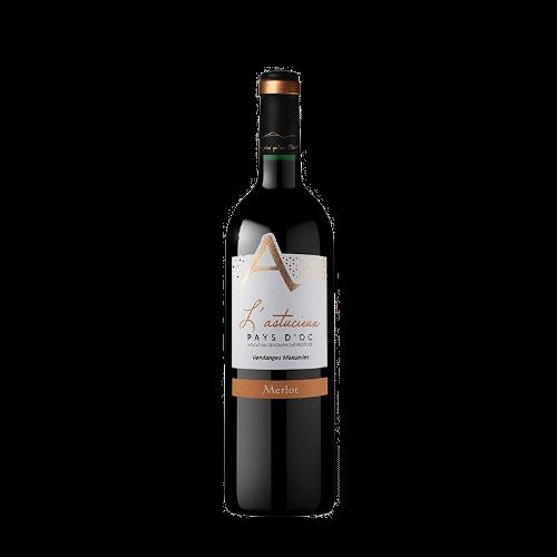 Cave Des Vignerons De Saint-Chinian L'Astucieux Merlot 2020 | Frankrijk | gemaakt van de druif: Merlot