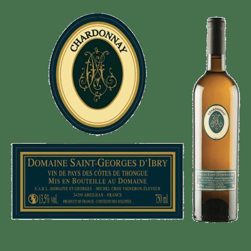 Domaine Saint-Georges D'Ibry Chardonnay En Fût De Chêne 2019 | Frankrijk | gemaakt van de druif: Chardonnay
