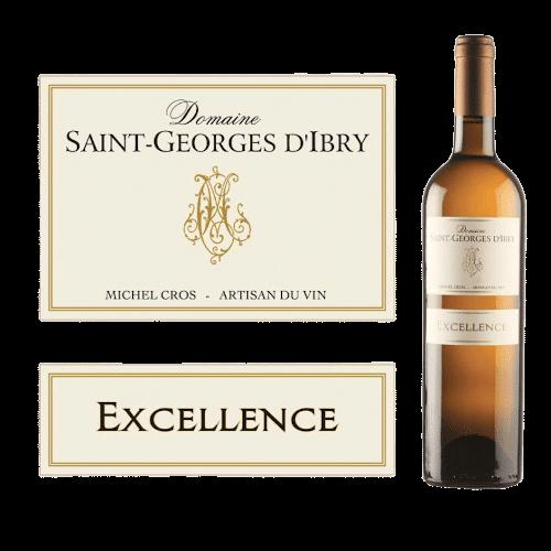 Domaine Saint-Georges D'Ibry Excellence Blanc 2020 | Frankrijk | gemaakt van de druif: Chardonnay, muscat, Sauvignon Blanc, Viognier