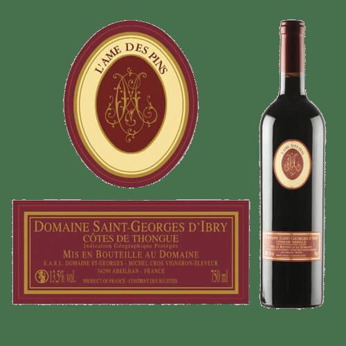 Domaine Saint-Georges D'Ibry L'Ame Des Pins Côtes De Thongue 2019 | Frankrijk | gemaakt van de druif: Cabernet Sauvignon, Merlot