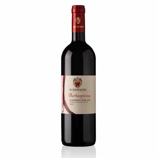 Morisfarms Barbaspinosa Maremma Toscana DOC Rosso 0,375L | Italië | gemaakt van de druif: Cabernet Sauvignon, Sangiovese