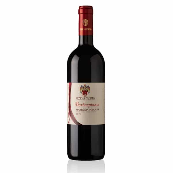 Morisfarms Barbaspinosa Maremma Toscana DOC Rosso | Italië | gemaakt van de druif: Cabernet Sauvignon, Sangiovese