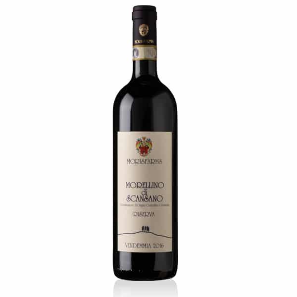Morisfarms Morellino di Scansano Riserva DOCG 1,5L | Italië | gemaakt van de druif: Cabernet Sauvignon, Merlot, Sangiovese