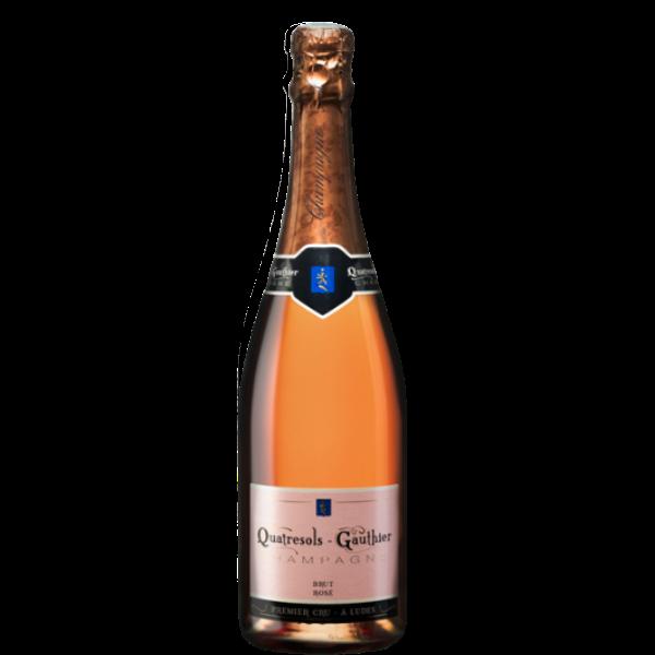 Quatresols Gauthier Brut Rose Champagne Premier Cru | Frankrijk | gemaakt van de druif: Chardonnay, Pinot Meunier, Pinot Noir