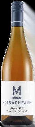 Maibachfarm – Ahr Blanc de Noir bio   Duitsland   gemaakt van de druif: Pinot Noir, spaetburgunder