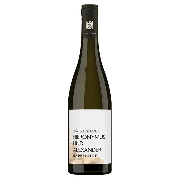 Weingut Rappenhof Spätburgunder Gutswein Hieronymus und Alexander   Duitsland   gemaakt van de druif: Pinot Noir